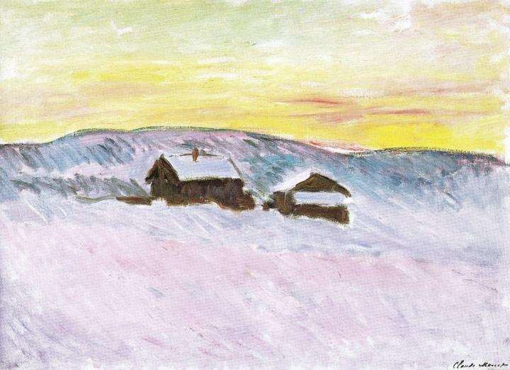 maisons-bleues-paysage-de-norvege-claude-monet