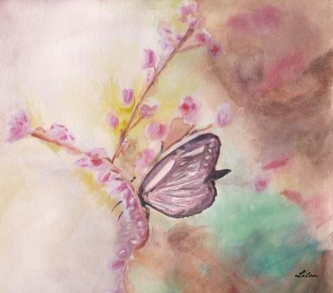 papillon fleurs roses.jpg