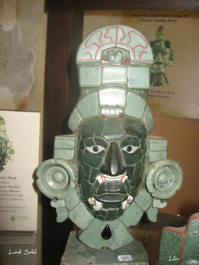 14 - lundi soleil l'art maya avril vert
