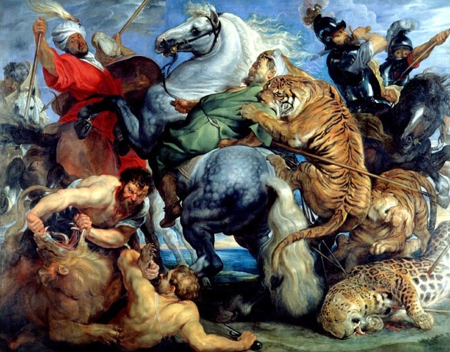 17- tableau du samedi Rubens-Chasse_au_tigre-1617-18-Rennes,_musée_beaux-arts