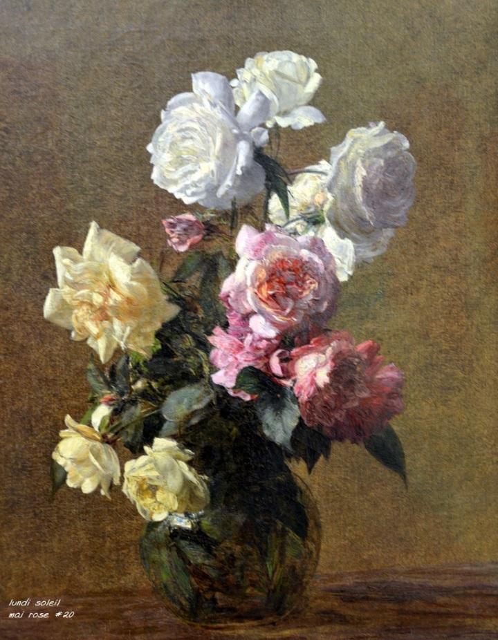 20- mai rose les roses de Fantin latour 1883