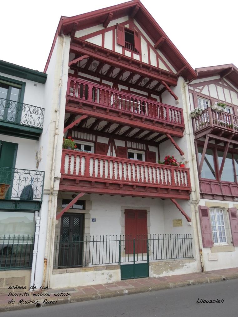 20 - scènes de rue Biarritz maison de ravel