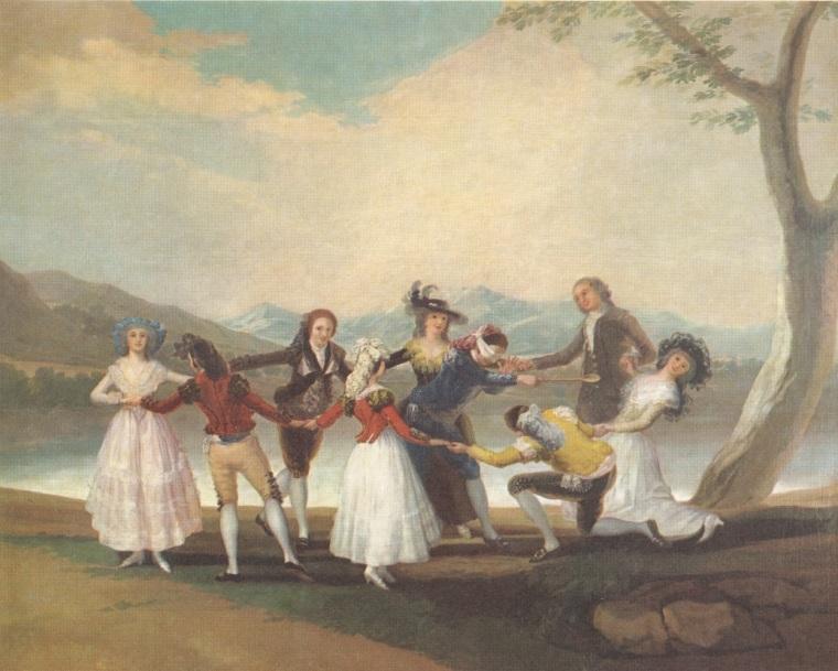20 - tableau du samedi Goya le jeu de colin maillard