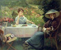 21 - tableau du samedi - L'heure du thé jacques jourdan