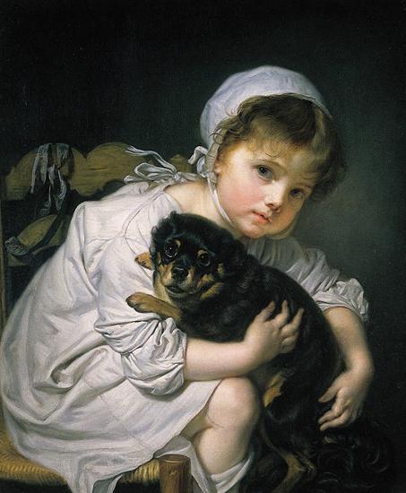 31 - Jean-Baptiste_Greuze_Une_jeune_enfant_qui_joue_avec_un_chien