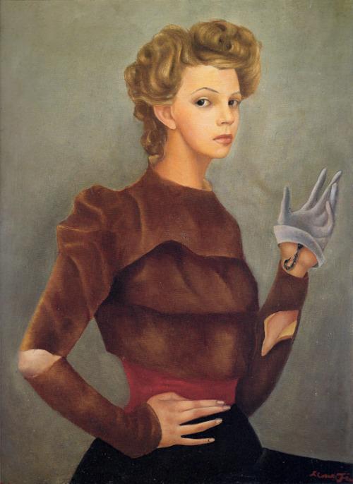 36 - Fini-Leonor---Autoportrait-avec-un-scorpion---1943