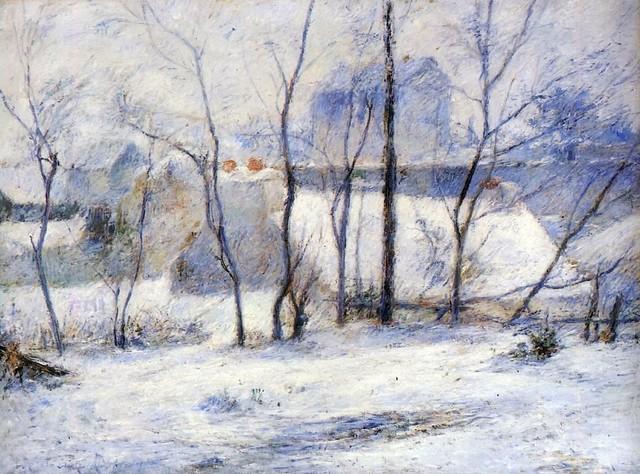 effets de neige paul gauguin pour tableaux du samedi 1-18