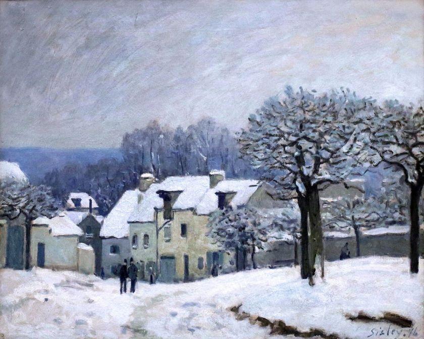 Place_du_Chenil_à_Marly,_effet_de_neige sisley