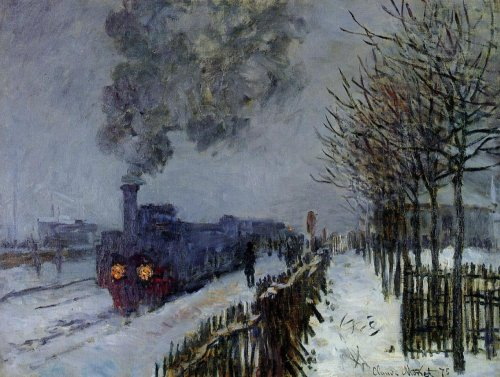3 - 18 la locomotive sous la neige monet