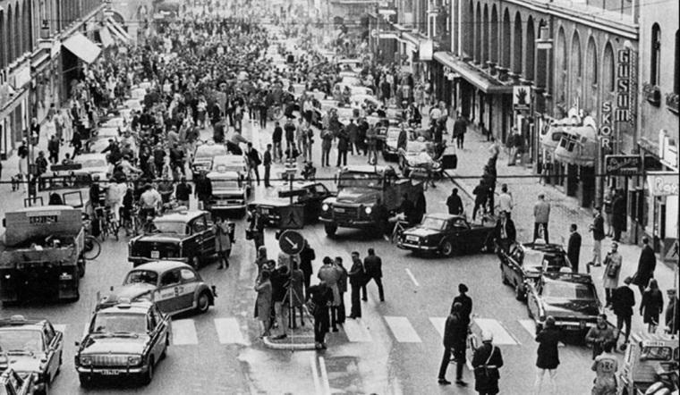 semaine 8 - 1967 - chnagement de conduite suéde