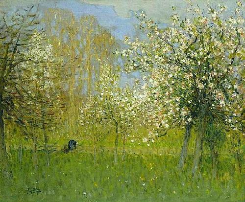 Pierre-Eug-ne-Montezin---Pommiers-en-fleurs-1925