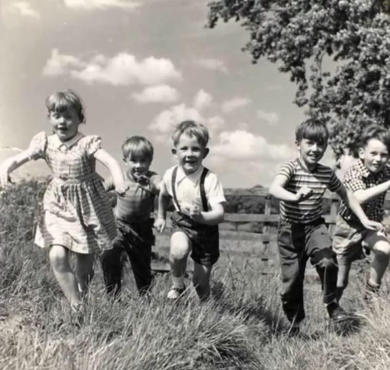 les enfants en 1950