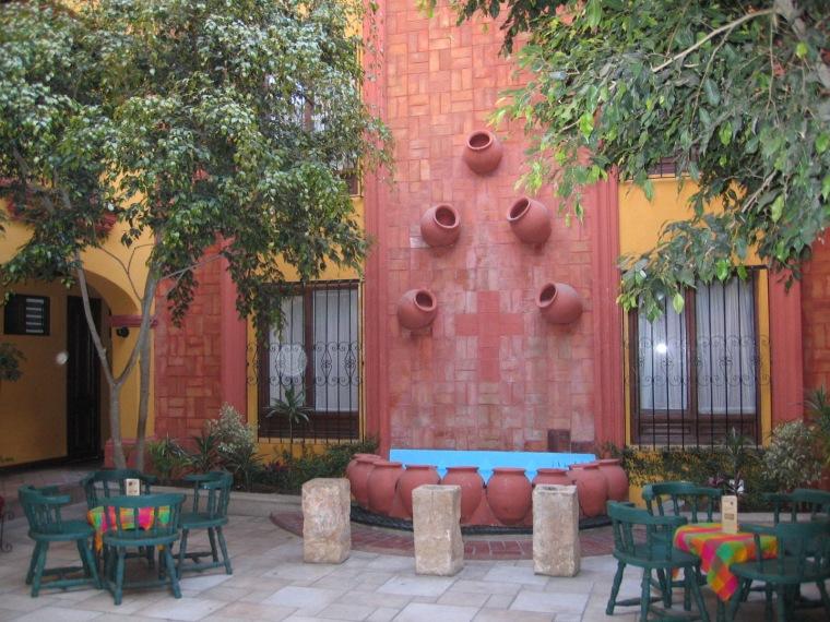 petite place pour se reposer de la chaleur mexicaine