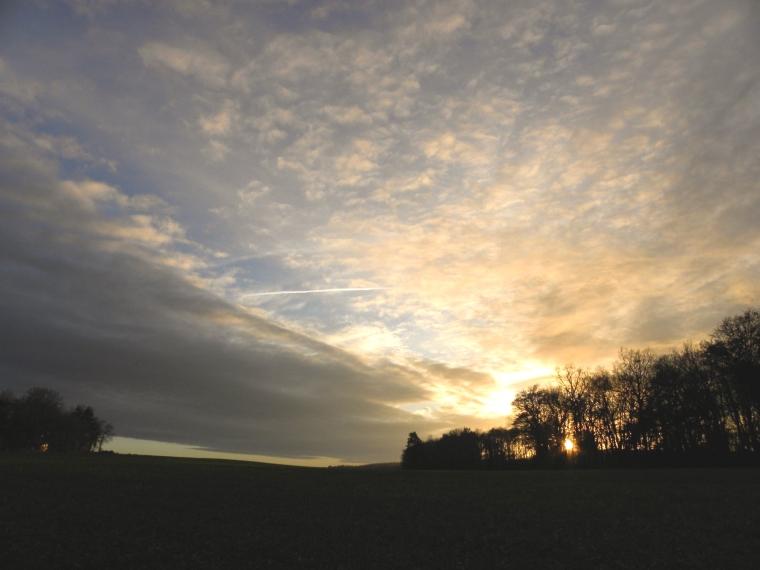 coucher de soleil environ de chaumont